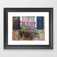 Window Box Flowers Framed Art Print