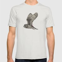 Owl Mens Fitted Tee Silver SMALL
