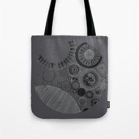 Abstract Geode Doodle Design in Charcoal Tote Bag