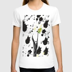 Last leaf standing Womens Fitted Tee White SMALL