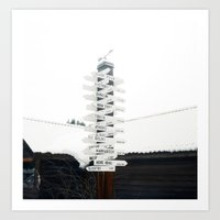 Directions to Anywhere Art Print