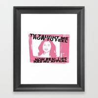 TV Taught Me How To Feel… Framed Art Print