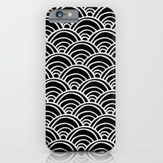 Waves All Over - White on Black Slim Case iPhone 6s