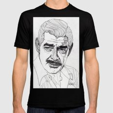 Clark Gable Black SMALL Mens Fitted Tee