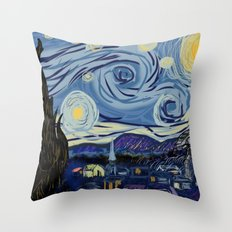 Starry Wars Night Throw Pillow