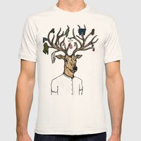 Evicted deer Mens Fitted Tee Natural SMALL
