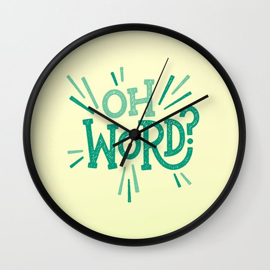 Oh Word? Wall Clock