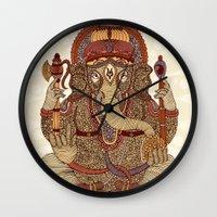 Ganesha: Lord of Success Wall Clock