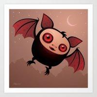RedEye The Vampire Bat B… Art Print