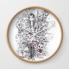 wonderland shattered Wall Clock