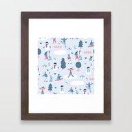 We Love Snow Framed Art Print