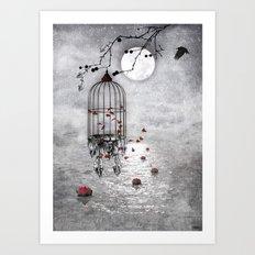 Le vent nous portera .... Art Print