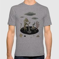 Shifting Tide Pool Mens Fitted Tee Athletic Grey SMALL
