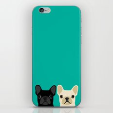 2 French Bulldogs iPhone & iPod Skin