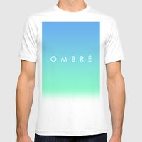 OMBRE #1 Mens Fitted Tee White SMALL