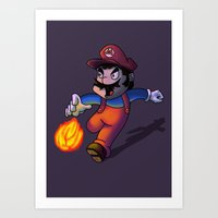 mario Art Prints featuring Mario by DROIDMONKEY