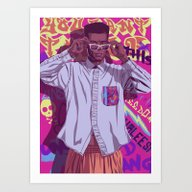 Art Print featuring 80/90s GAME OF THRONES -… by Mike Wrobel