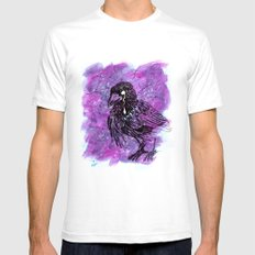 Crying Crow Mens Fitted Tee White SMALL