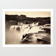 Vintage Waterfall Art Print