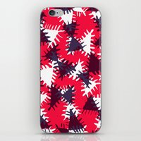 Triangle painted and digital pattern iPhone & iPod Skin
