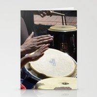 playing bongos Stationery Cards