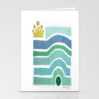 :: Princess n' Pea (Mint) Stationery Cards
