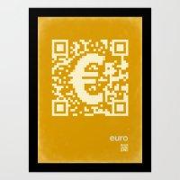 QR Euro Art Print