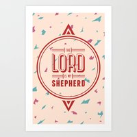 Psalm 23:1 Art Print