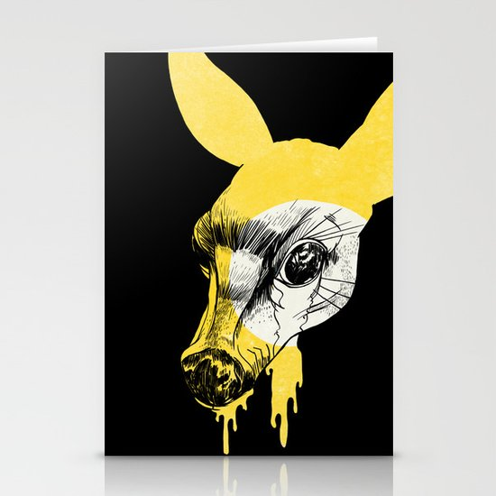 Fawn in Headlight Stationery Card