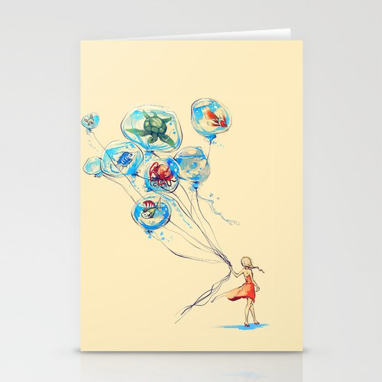 Water Balloons Stationery Card