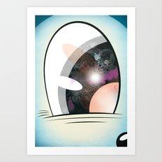 Cartoon Eye Art Print