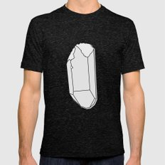 Clear Quartz Mens Fitted Tee Tri-Black SMALL