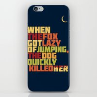 That Lazy Fox iPhone & iPod Skin