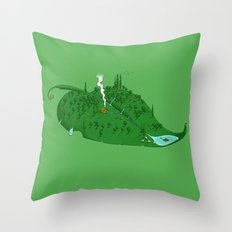 Full of Leaf Throw Pillow