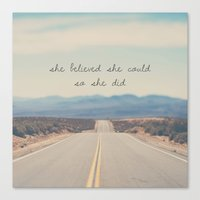 She Believed She Could S… Canvas Print