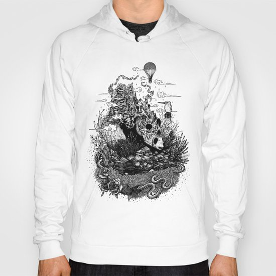 Land of the Sleeping Giant (ink drawing) Hoody