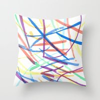 Happy Chaos Throw Pillow