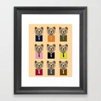 Little Bear With Tie Framed Art Print