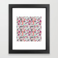Patterned Arrows Framed Art Print