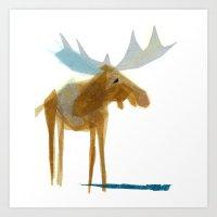 Heathcliff Moose Art Print