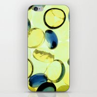 Yellow buttons iPhone & iPod Skin