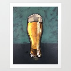 Glass of Beer Art Print