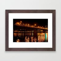 hawthorn bridge Framed Art Print