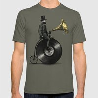 Music Man in the City, by Eric Fan and Viviana González Mens Fitted Tee Lieutenant SMALL