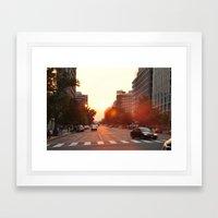 Washington Heat Framed Art Print