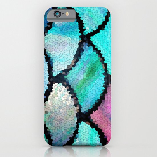 turquoise mosaic iPhone & iPod Case