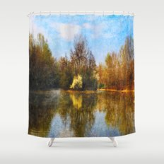 Autumn Lake Shower Curtain