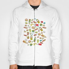 Awesome retro junk food icons Hoody