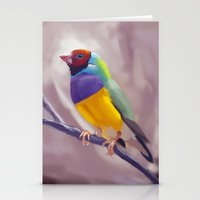 Gouldian Finch Stationery Cards