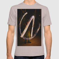 Fire Poi. Mens Fitted Tee Cinder SMALL